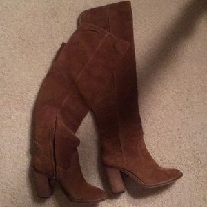 Dolce Vita Camel Suede Over the Knee Boot- likenew